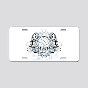 Volleyball Aunt Aluminum License Plate