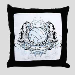 Volleyball Aunt Throw Pillow