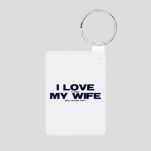 I love my wife Xbox funny Aluminum Photo Keychain