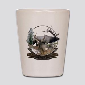 Big Game Elk and Deer Shot Glass