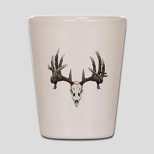 whitetail skull Shot Glass