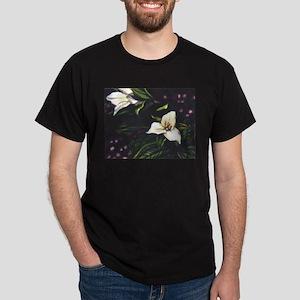 """""""Trillium"""" watercolor Dark T-Shirt"""