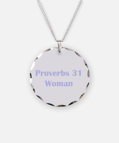 Lilac Proverbs 31 Woman Necklace