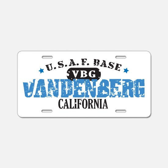 Vandenberg Air Force Base Aluminum License Plate