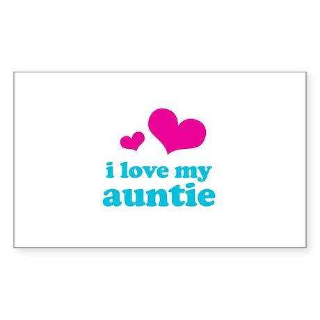 I Love My Auntie Sticker (Rectangle)