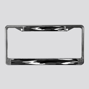 Black & White Camo License Plate Frame