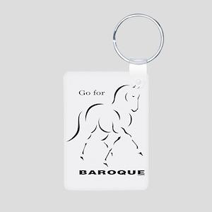 Go for Baroque Aluminum Photo Keychain