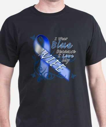 I Wear Blue Because I Love My Wife T-Shirt