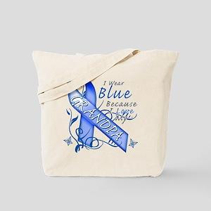 I Wear Blue Because I Love My Grandpa Tote Bag