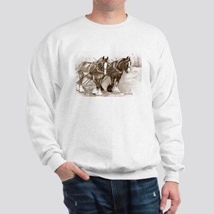 Sweatshirt Working Shire Horses Design