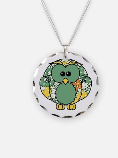 Retro Daisy Owl Necklace