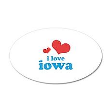 I Love Iowa 22x14 Oval Wall Peel