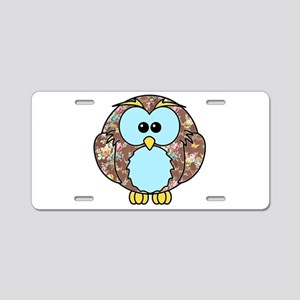Country Rose Owl Aluminum License Plate