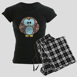 Country Rose Owl Women's Dark Pajamas
