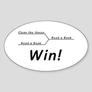 Win! Sticker (Oval)