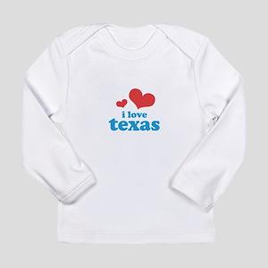 I Love Texas Long Sleeve Infant T-Shirt
