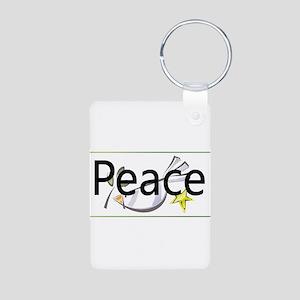 Love of Peace Aluminum Photo Keychain
