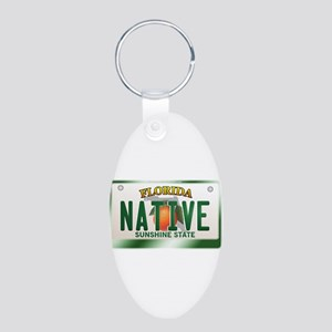 """NATIVE"" Florida License Plate Aluminum Oval Keych"