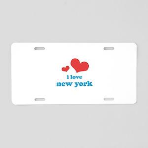 I Love New York Aluminum License Plate