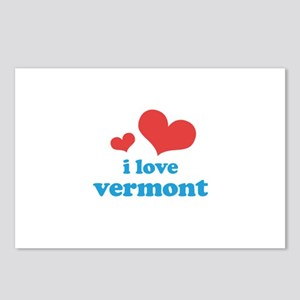 I Love Vermont Postcards (Package of 8)