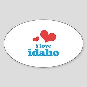 I Love Idaho Sticker (Oval)