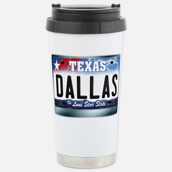 Texas License Plate [DALLAS] Stainless Steel Trave
