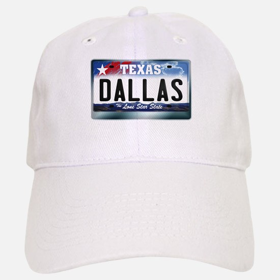 Texas License Plate [DALLAS] Baseball Baseball Cap