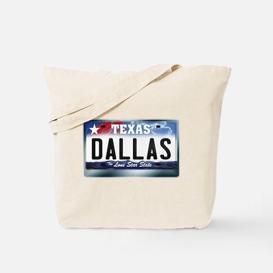 Texas License Plate [DALLAS] Tote Bag