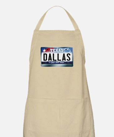 Texas License Plate [DALLAS] Apron