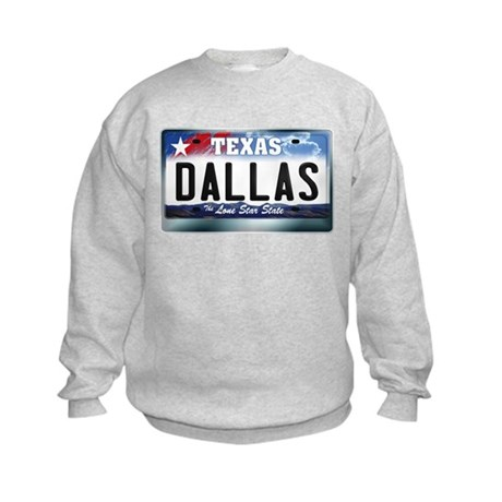 Texas License Plate [DALLAS] Kids Sweatshirt