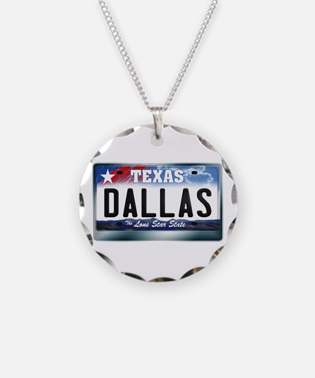 Texas License Plate [DALLAS] Necklace