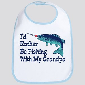 I'd Rather Be Fishing With My Grandpa Bib
