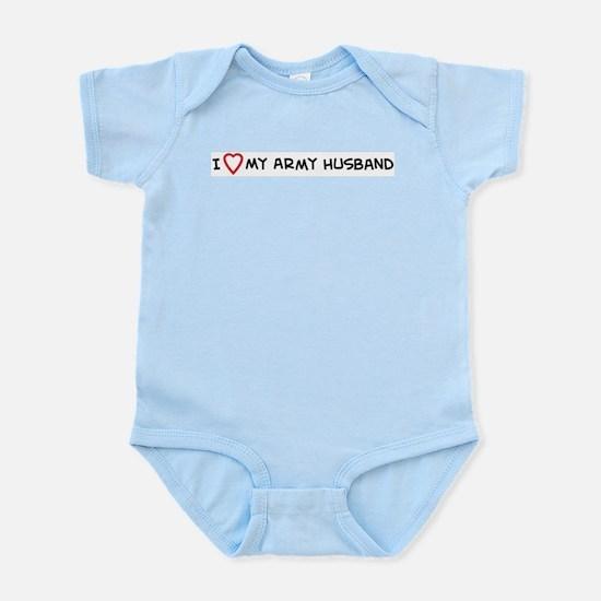 I Love My Army Husband Infant Creeper