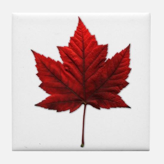 Canada Maple Leaf Tile Coaster