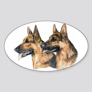 German Shepherd Dog Oval Sticker