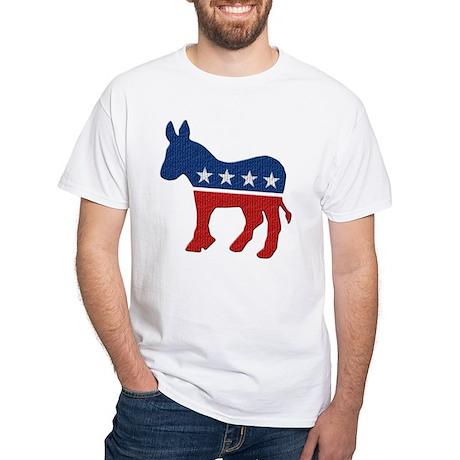 Democrat Donkey Logo White T-Shirt