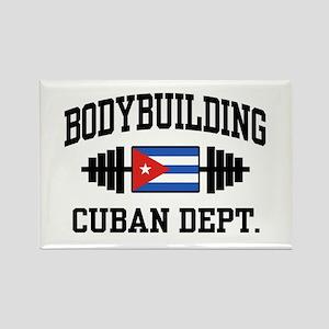 Cuban Bodybuilder Rectangle Magnet
