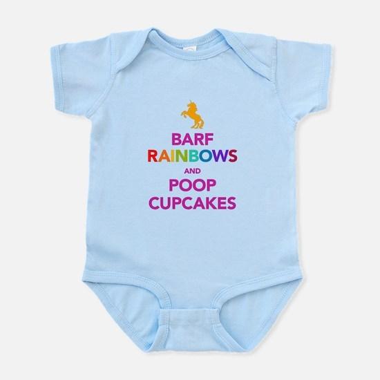 Barf Rainbows and Poop Cupcak Infant Bodysuit
