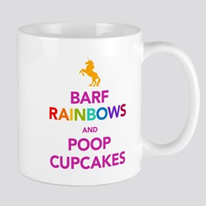 Barf Rainbows and Poop Cupcak Mug