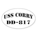 USS CORRY Sticker (Oval)