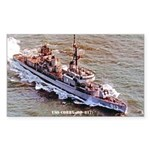 USS CORRY Sticker (Rectangle)