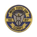 """USS CORRY 3.5"""" Button"""