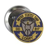 """USS CORRY 2.25"""" Button"""