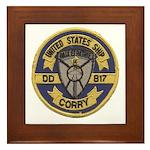 USS CORRY Framed Tile