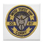 USS CORRY Tile Coaster