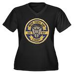 USS CORRY Women's Plus Size V-Neck Dark T-Shirt
