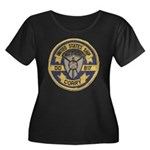 USS CORRY Women's Plus Size Scoop Neck Dark T-Shir