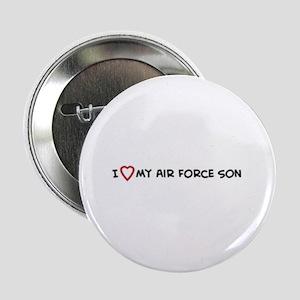 I Love My Air Force Son Button