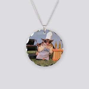 Cookout Necklace Circle Charm