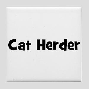 Cat Herder Tile Coaster